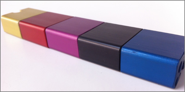 Sulfuric Anodize Dyed with Various Colors.
